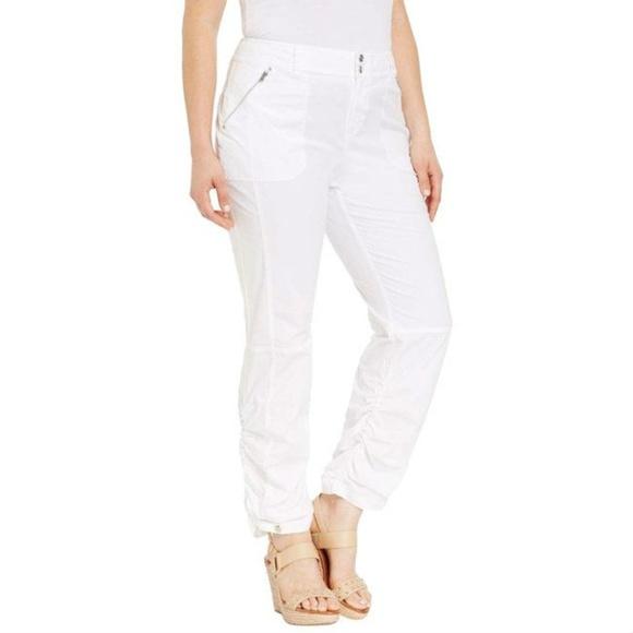 1d513a9fd6f INC Stretch Cotton Ruched Leg Pants